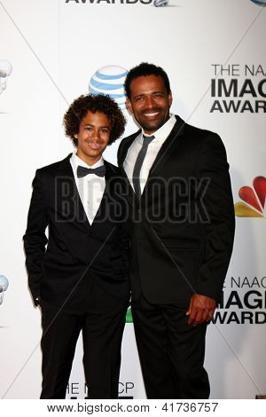LOS ANGELES - FEB 1:  Mario Van Peebles arrives at the 44th NAACP Image Awards at the Shrine Auditorium on February 1, 2013 in Los Angeles, CA.