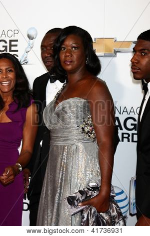 LOS ANGELES - FEB 1:  Sybrina Fulton, Trayvon Martin's mother arrives at the 44th NAACP Image Awards at the Shrine Auditorium on February 1, 2013 in Los Angeles, CA.