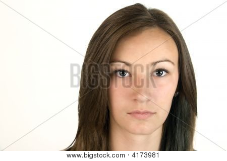 Teenager Close Up - Isolated