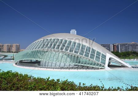 Hemisferic at the City of Arts and Sciences in Valencia, Spain