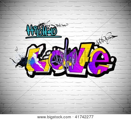 graffiti wall urban background