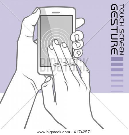 Commonly Used Touch Screen Gestures on Mobile Phone : Drag