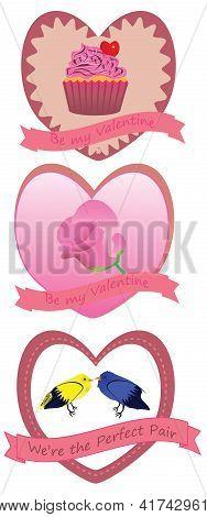 Retro Valentine Badges