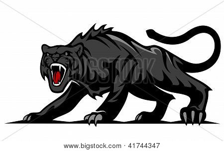 Pantera negra de peligro