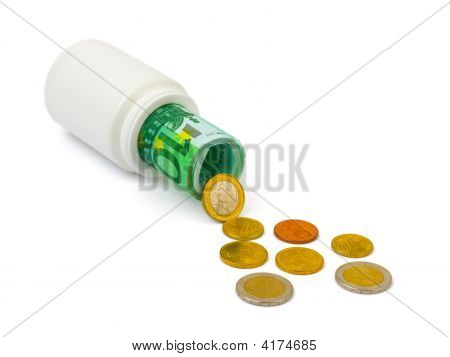 Medical Bottle And Money
