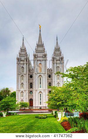 Mormons' Temple In Salt Lake City, Ut