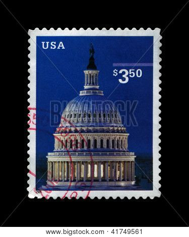 Usa - Circa 2001: Stamp Printed In Usa, Shows Capitol Dome, Circa 2001.