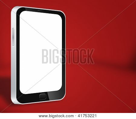 Smartphone Red Background