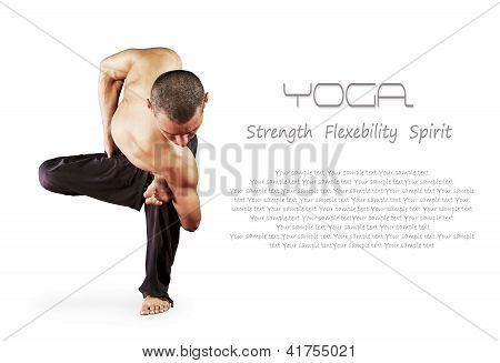Yoga Background With Man