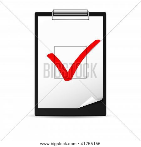Clipboard with checkmark