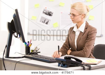 Secretary Working