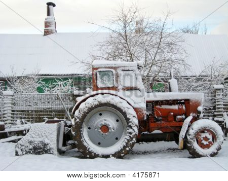 Tractor Snowed Up