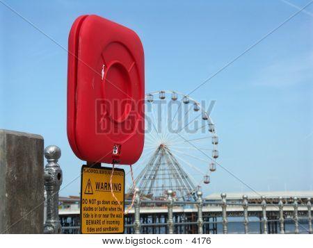 Life Preserver At Blackpool
