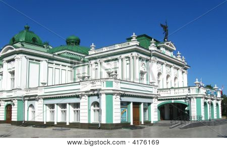 The Building Ot He Dramatical Theatre In Omsk Russia