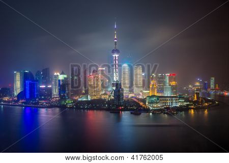Oriental Pearl Tower and Shanghai World Financial Center (SWFC) & Jin Mao Tower with shanghai skyline.