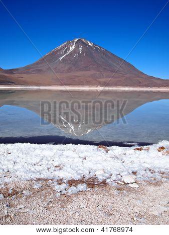 Volcano Reflection In Laguna Verde