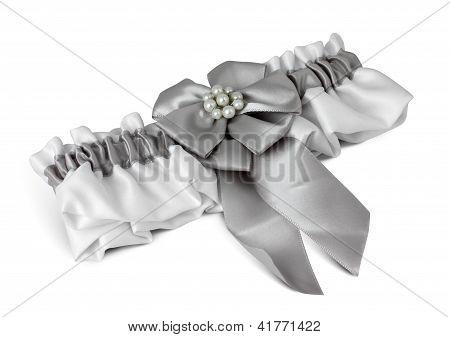Wedding Garter On White
