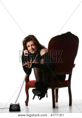 Fashion Girl Talking On Phone