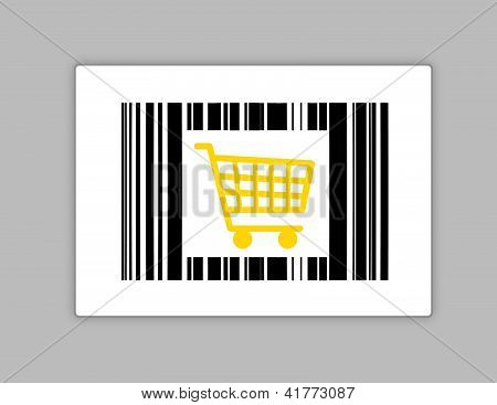 Bar Code With Shopping Cart