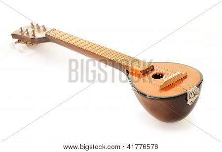 Greek Musical Instrument Bouzouki Isolated On White Background