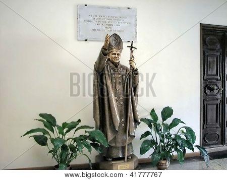 Lobby of cathedral San Martino, Burano, Italy