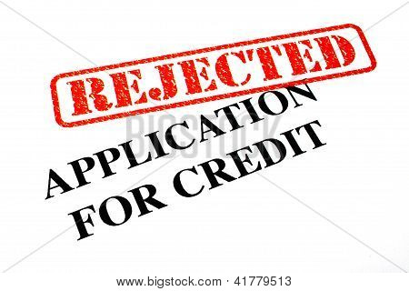 Rejected Application For Credit