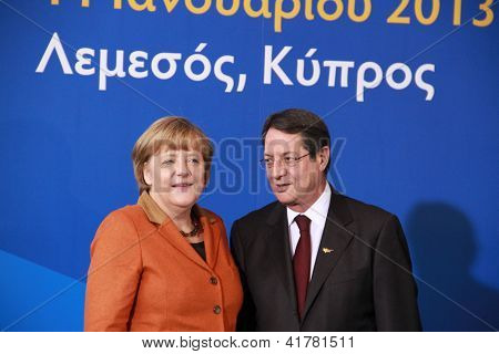 Angela Merkel and Nicos Anastasiades, Presidential Contender