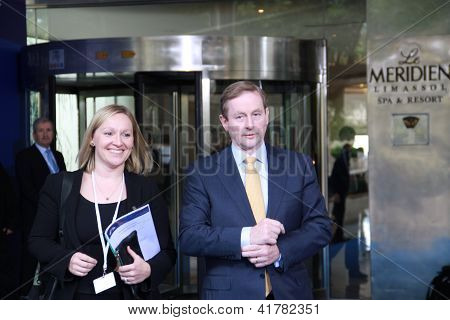Enda Kenny and Lucinda Creighton