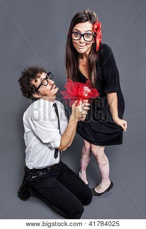 Nerd Couple In Love
