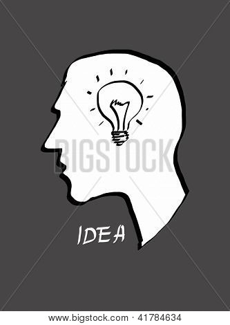 Big idea. Hand drawn vector illustration.
