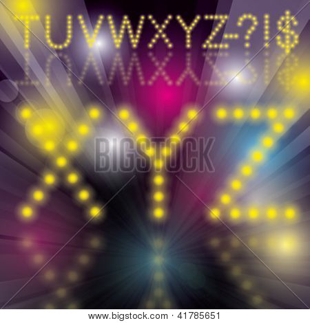 Disco Alphabet. Vector disco letters alphabet with blends. All elements with transparent are on separated layers.