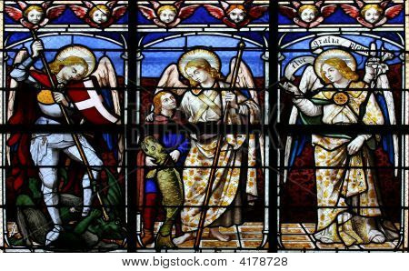 The Archangels (Stained Glass Window)
