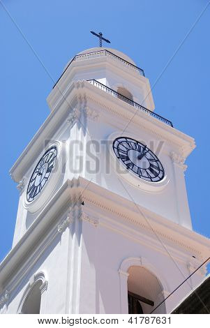 San Ignacio Church clock tower.