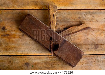 carpenter vintage wood planer tool planer rusted on retro  background