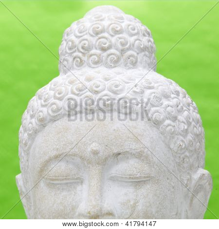 Cut Out Of The Head Of A Yoga Meditating Statue