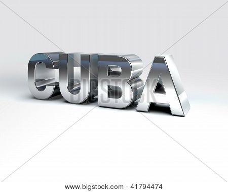 3D Country Text Of Cuba