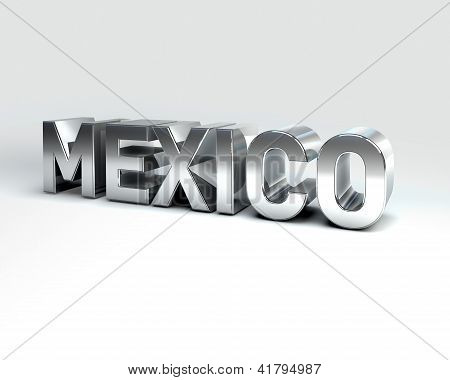 3D Country Text Of Mexico