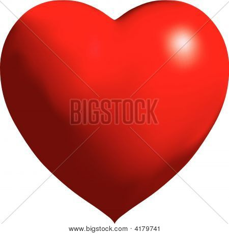 Big Vector Shiny Red Balloon Heart