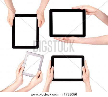 Touch Screen Tablet Computer With Hand Set