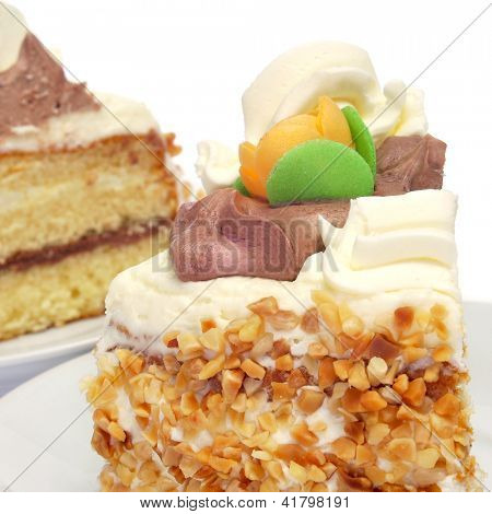 some pieces of mona de pascua, a typical spanish easter cake