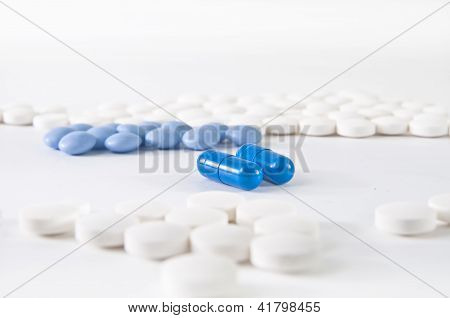 Medical Background - Blue And White Pills