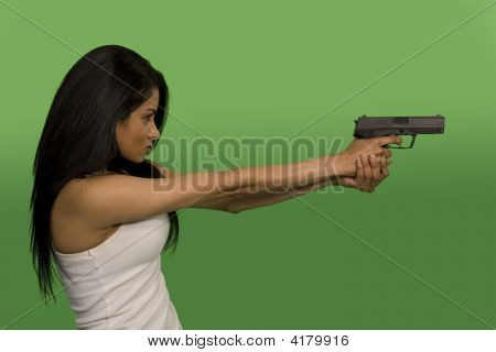 Holding A Gun