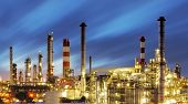 stock photo of petroleum  - Factory At a Sunset  - JPG