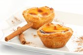 foto of pasteis  - Typical Portuguese custard pies  - JPG