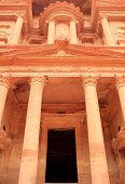 stock photo of square mile  - The treasury at Petra Lost rock city of Jordan - JPG