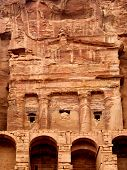 stock photo of square mile  - Urn Tomb in the Lost rock city of Jordan - JPG
