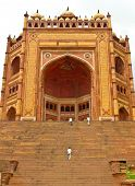 pic of darwaza  - Buland Darwaza the 54 meters high entrance to Fatehpur Sikri complex Uttar Pradesh India - JPG