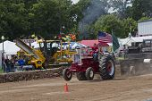 Shiny Red International Turbo Tractor Pulling