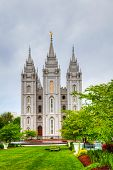 Templo de los mormones en Salt Lake City, Ut