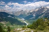 picture of albania  - high view of Valbona Valley National Park - JPG